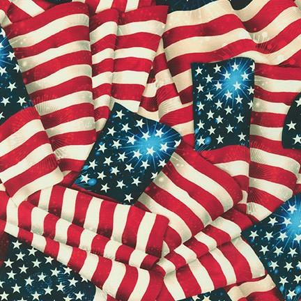 Patriots Wide Backing Digital - Vintage Flags