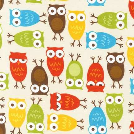 Natural with Multi-colored Owls