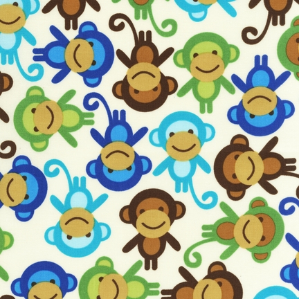 Natural with Blue/Brown/Green Monkeys