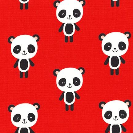 Pandas on Red: Urban Zoologie by Ann Kelle for Robert Kaufman