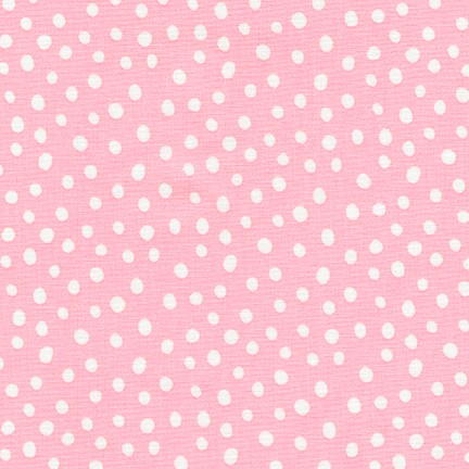 Robert Kaufman Penned Pals Flannel 17046-123 Pink with White Dot