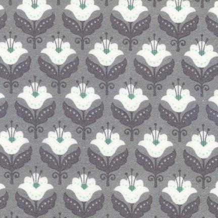 Fleurie Floral ASH Flannel