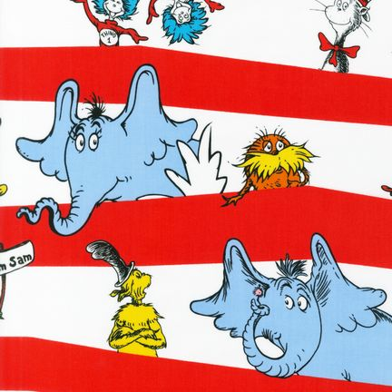 Dr Seuss Stripe Fabric by the Yard