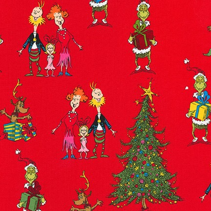 How the Grinch Stole Christmas Characters red