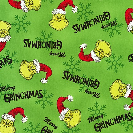 How The Grinch Stole Christmas - Merry Grinchmas - Green - 1pc - 1.26m/50in