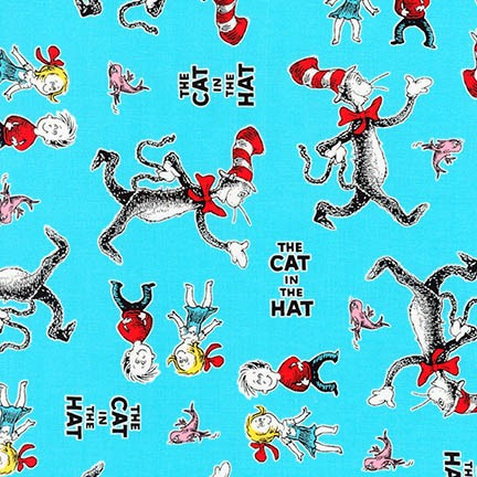 The Cat in The Hat 4-Kids & Cat-Aqua