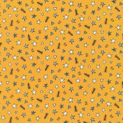 Black and White Stars, Triangles, and Trees on Yellow:  Neighborhood Pals by Robert Kaufman