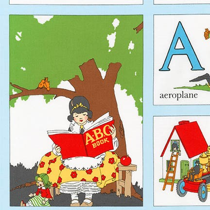My ABC Panel ADZ-16624-200 VINTAGE by Darlene  Zimmerman