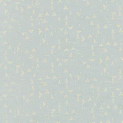 KAUF- Forage Silver Triangles Linen/Cotton Blend