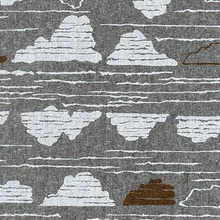 Driftless Linen/Cotton Canvas - Black Clouds
