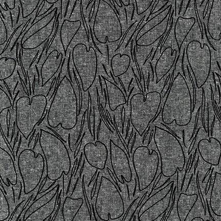 Robert Kaufman AFH-19017-2 BLACK Cotton/Linen