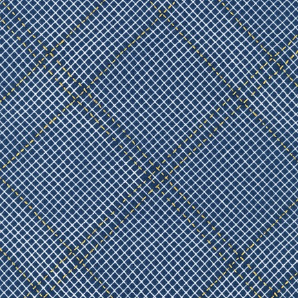 Collection CF: Diamond Grid in Navy