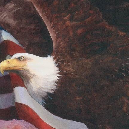 America The Beautiful - Eagle Panel