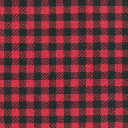 Burley Beavers Flannel CARDINAL by Andie  Hanna RED CHECK FLANNEL
