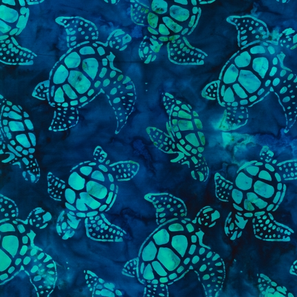 Lunn Studios Totlly Tropical Regata Turtles
