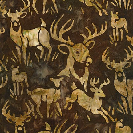 Wildlife Sanctuary - Deer Batik - Earthtone (#7243)