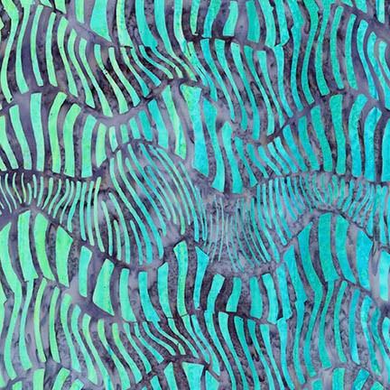 Wavelengths Cornflower Blue Wave Stripe Batik