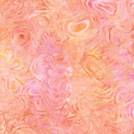 Wavelengths Petal Orange/Pink Swirl Batik
