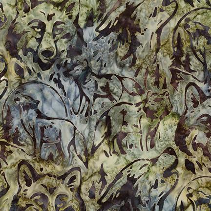 Artisan Batiks: Wildlife Sanctuary 6 SMOKE