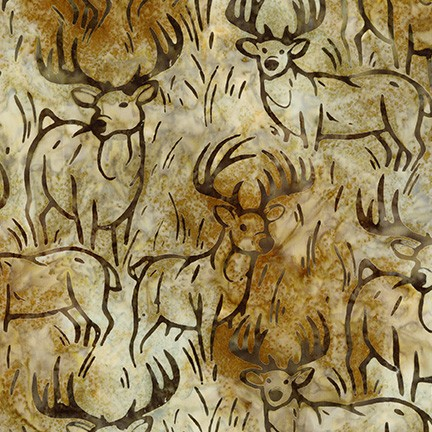 Artisan Batiks: Wildlife Sanctuary 6 TAN