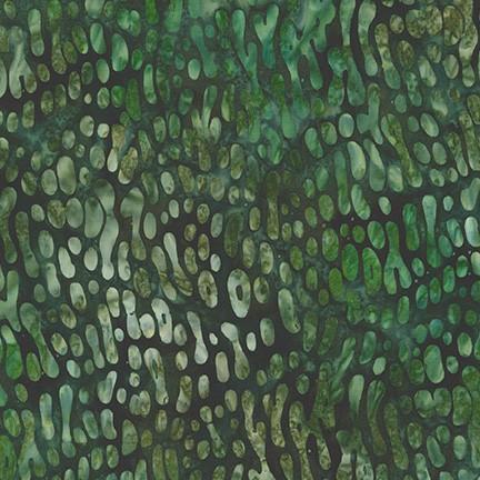 By the Brook Batik: Oil Bubbles - Meadow