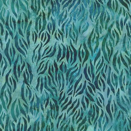 By the Brook Batik: Kelp - Water