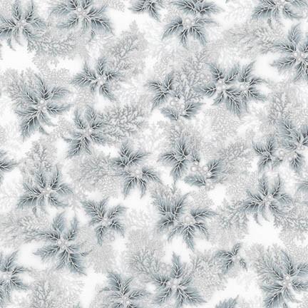 Robert Kaufman Holiday Flourish 11 APTM-17340-186 Silver Holly