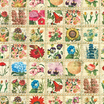Library of Rarities Stamps - Flowers