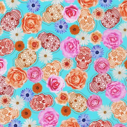 Frida Kahlo Aqua Floral