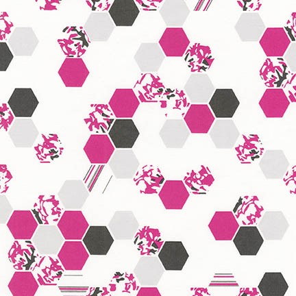 *Pink and Gray Hexagons - AVL-17460-10