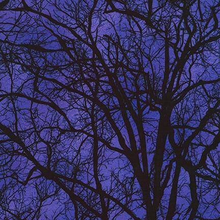 KAUF- Raven Moon Trees Black on Purple