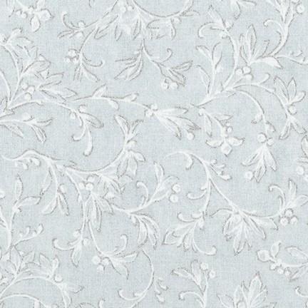 Winter White Blue-Grey Tonal in Sky by Robert Kaufman Fabrics
