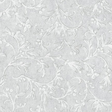 Robert Kaufman Winter White 3 AWHM-17376-88 Ice Gray Feathers