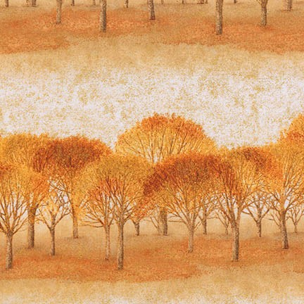Robert Kaufman - Sound of the Woods 4-Trees/Border Print - AWVM-17499-191 AUTUMN