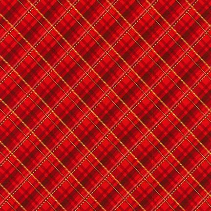 robert Kaufman Winter's Grandeur 8 AXBM-19329-3 Red/metallic