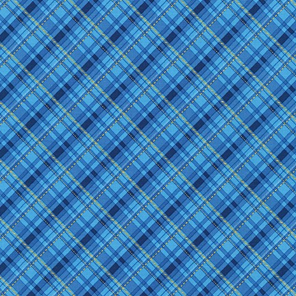 Plaid BLUE by Liza Bea Studio from Winter's Grandeur 8