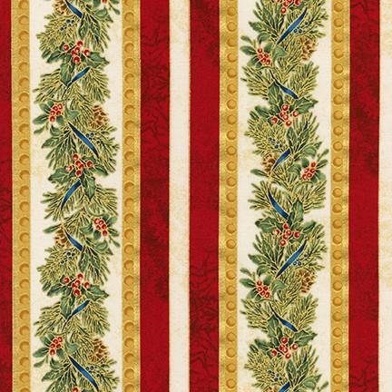 Holiday Stipe - Winter's Grandeur 8 by Robert Kaufman Fabrics