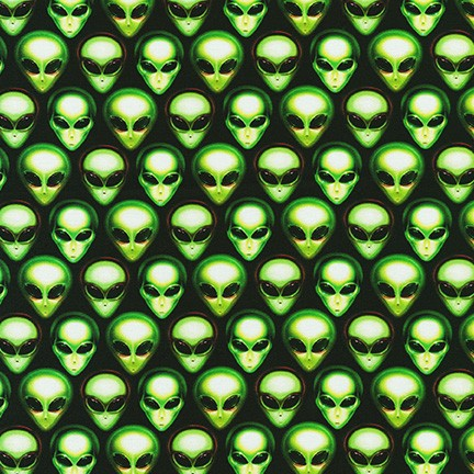 Area 51 alien Fabric by the Yard