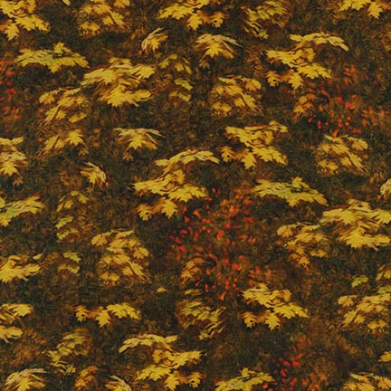 PICTURE THIS NATURE BROWN WITH GOLD LEAVES AYK-17268-268