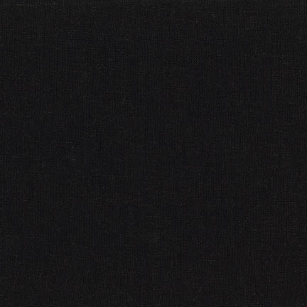 Remnant - Brussels Washer Linen/Rayon - Black 52 - 2/3 yard