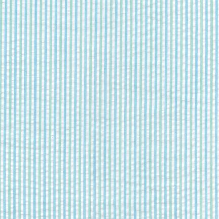 Mint Seersucker Stripe Fabric by Robert Kaufman