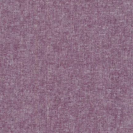 Essex Yarn Dyed Cotton/Linen Blend in Eggplant