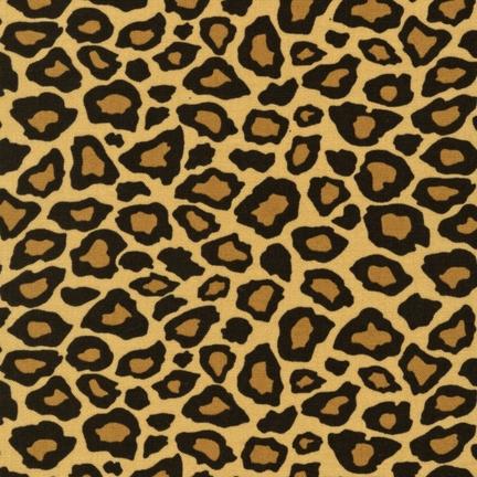 Robert Kaufman Metro Living EIP-11176-169 EARTH Leopard / Cheetah Print Fabric