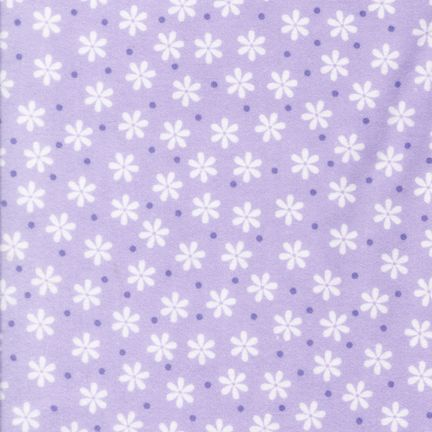 LAVENDER FLANNEL WITH FLOWERS