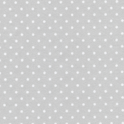 Robert Kaufman Cozy Cotton Flannel 9255-186 SILVER with white dot