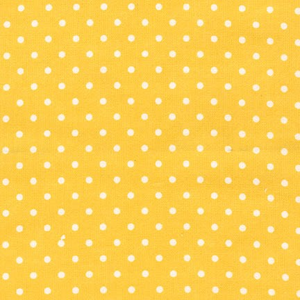 FIN-9255-5 YELLOW Flannel Dot