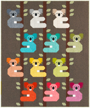 Koalas Quilt Kit by Elizabeth Hartman for Robert Kaufman