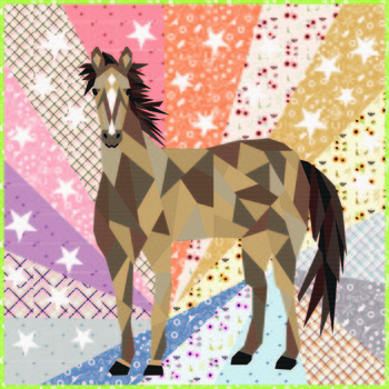 Horse Abstractions Quilt Kit 60 x 60