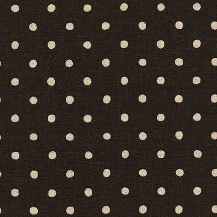 Sevenberry Canvas Black Natural Polka Dots