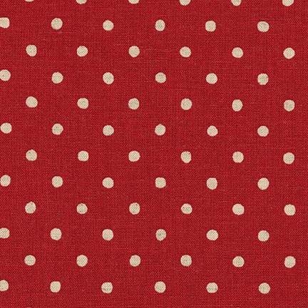 Sevenberry Canvas Natural Polka Dots